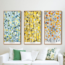 Modern Decoration Handmade Abstract Oil Painting Flowers