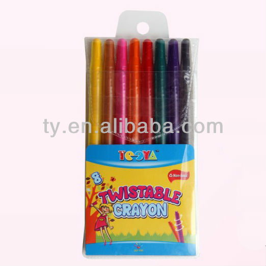 8 colors twistable crayon