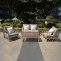 New design hot sale italian royal metal aluminum polywood outdoor garden furniture