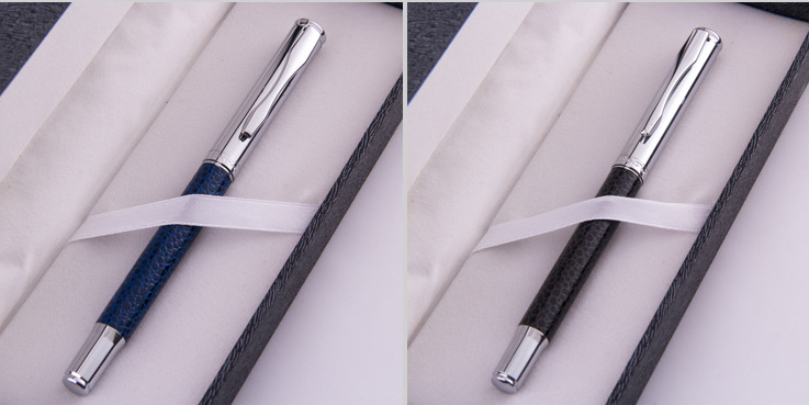 High-grade Metal Pen Custom Logo Signature Pen Genuine Leather Metal Pen