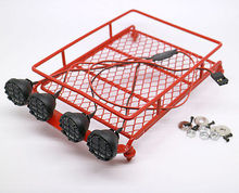 New RC Tamiya Land Rover Axial white led red Tray Lights Crawler Luggage Rack