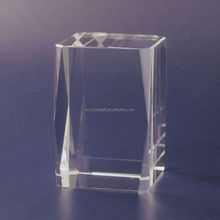 K9 Crystal Blank/High Quality Crystal Blank/blank block cube with 24 corner cube