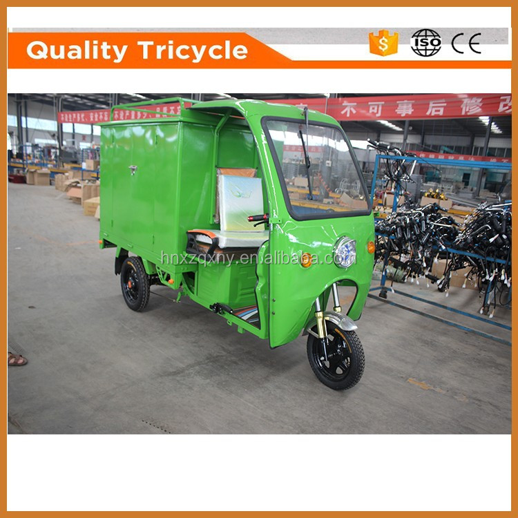 Adult Electric Tricycle for Delivery With Passager Seat and Cabin