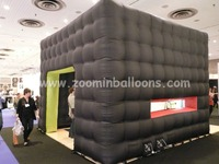 2016 New designed Black Inflatable Bubble Cube Tent for events N5114