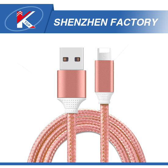2 in 1Nylon Braid Mobile Phone Flashing USB Cable for iPhone Braided Acid Resistant Micro USB3.0 Foxconn Cable with Packaging