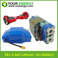good discharging performance 36v 4.4ah 10s2p lithium battery pack for self balancing scooter