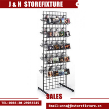 T shape double side wire display stand metal gridwall floor stand