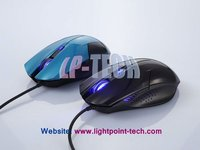 Blue LED Light gaming mouse optical 4D drivers usb mini optical mouse