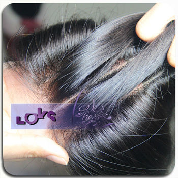 Exellent quality unprocessed Brazilian hair 3 part lace closure with wholesale price