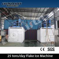 Flake ice machine with cold storage efficient great performance