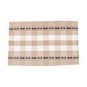 Home decor living room cotton and polyester fabric carpet anti-slip check pattern floor mat