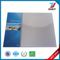 Clear plastic book cover roll for hard pvc binding cover