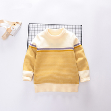 Round neck flower pattern knitted fashion baby girl sweater, baby girl sweater design