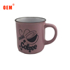 Hand painting Custom Printing Ceramic Coffee cup Enamel 9oz Mug