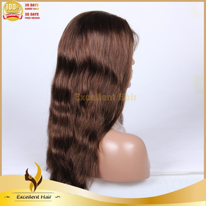 Natural straight peruvian hair wig #2/#4 ombre color full lace wig long straight wig cosplay