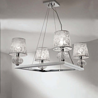 fashion crystal printing fabric modern pendant lamp,chandelier