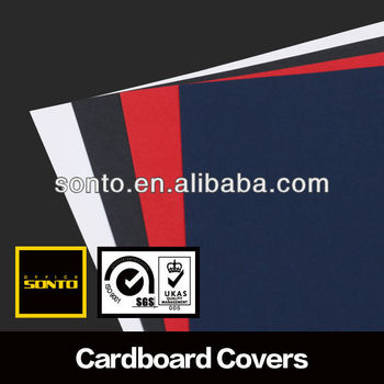 Leather grain paper binding cover