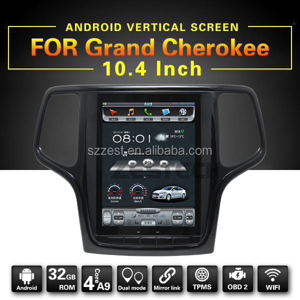 "10.4"" Android Vertical Screen Auto radio car dvd player for jeep grand cherokee car multimedia"