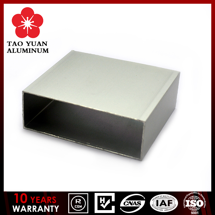 Contemporary Polished aluminum fencing square tube