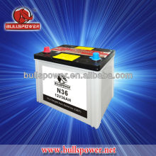 Best price N36 12v 36ah dry charged battery,cheap 12v car batteries for trucks/automotive