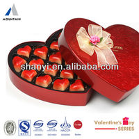 Mountain Valentine Love Heart Box Red lovely high quality Valentine cardboard heart-shaped candy box