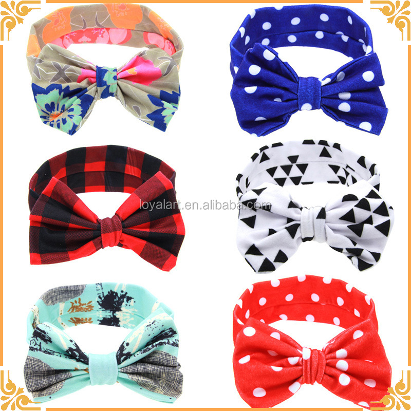 Wholesales Cheap Girl Baby Bow Cloth Custom Headbands