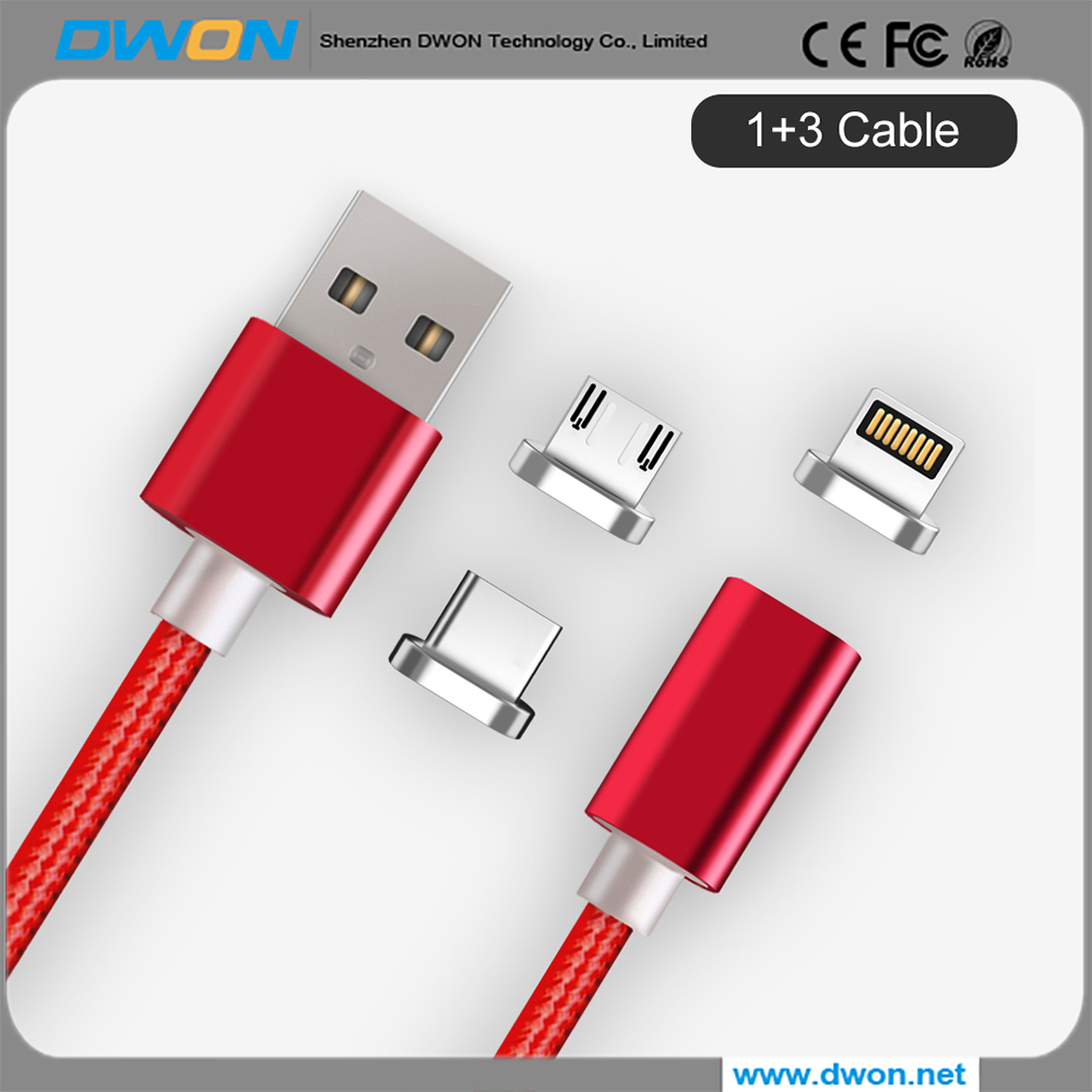 Manufacturer Magnet charging Cable Magnetic USB Adapter Type c 3.1 usb data cable
