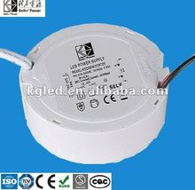 15W round shape constant current led driver