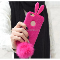 Hot Sales Soft Rabbit Fur Case Cover For Samsung Galaxy S5 Note 2 3 4 for iPhone 4S/5S/6S/6 plus
