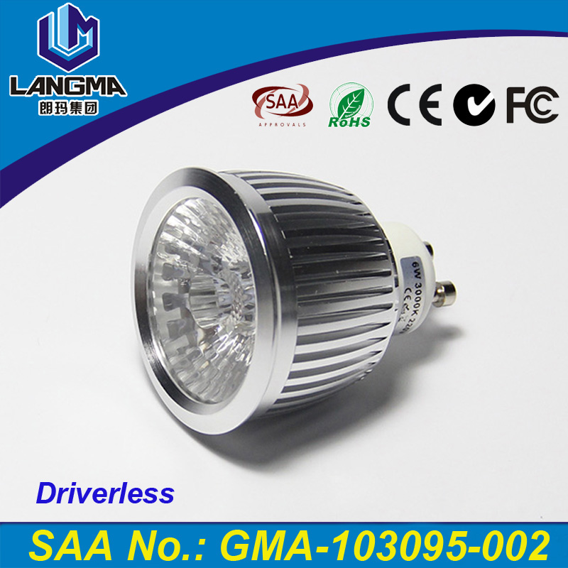 120V 230V gu10 high lumen 550lm 6w gu10 <strong>led</strong> <strong>light</strong> <strong>bulbs</strong> manufacturer