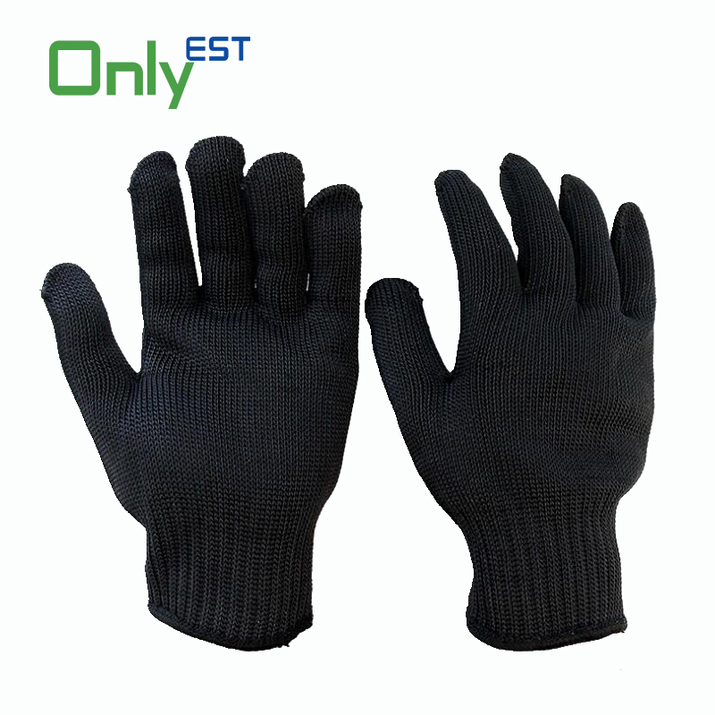 CE certified HPPE yarn Kitchen Cut Resistant Protection glass handling safety gloves