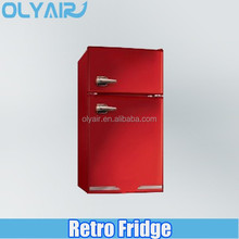 OS-HY130RE Antique retro domestic mini fridge Nostalgia electrics fridge