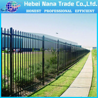 Strong spear top wrought iron fence, garden border fence