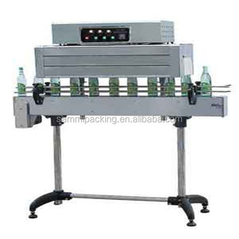 Semi automatic bottle cap plastic film shrink wrapping machine