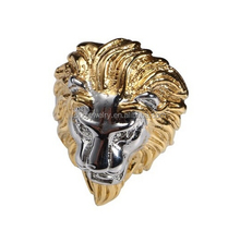new exquisite metal product wholesale costume jewelry rings gold plated lion shape