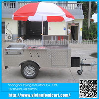 Shanghai YiYing factory YY-HS200A bbq food cart with cooler box for sale