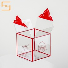 Customized Clear Transparent Hard Plastic Gift Packaging Box