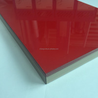 Solid color series high gloss UV board/ high gloss UV mdf with good quality