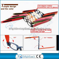 2013 The Style Award 2015 fashion optical frame with mini 360 degrees rotation reading glasses