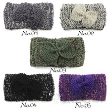 Fashion Crochet Headband Knited Headwrap Bow wool Hiar Bands new style Hair Accessories for Women