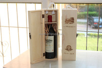 Pine flip single red wine box