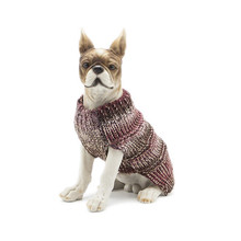 Pet Dog Christmas Knitted Sweater Clothes Warm Knitwear Hoodies Red & White puppy Sweatshirt