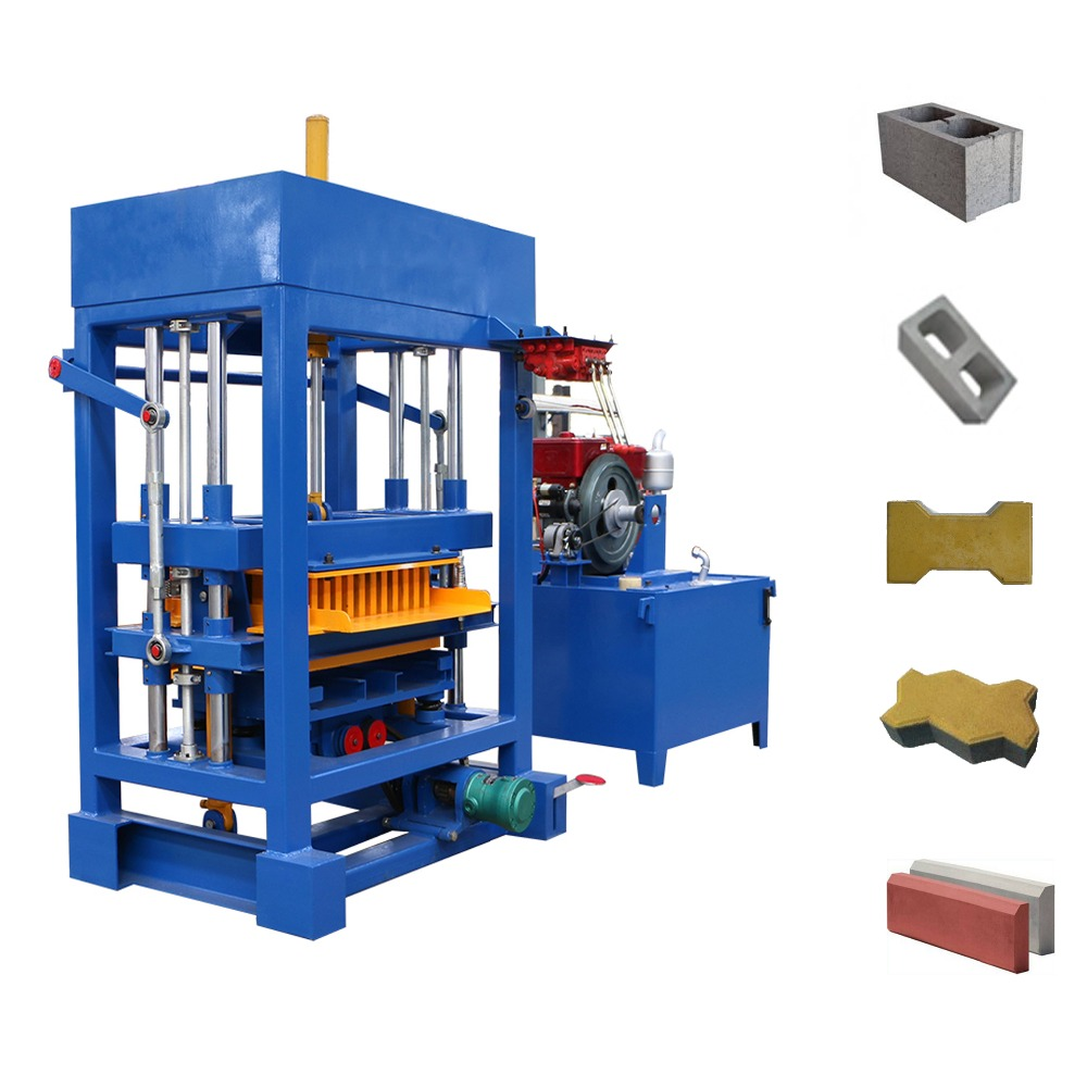 QT4-30 interlocking paver making machine for sale, no need <strong>electricity</strong> concrete wall block making machine