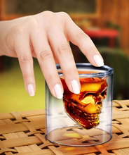 SCD-5-GC004 Creative Double Glass Skull Personality Bar Beer Mug