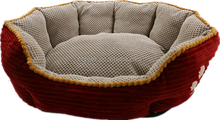 High quality cheap corduroy bed wholesale indoor non slip warm pet bed for dog and cat