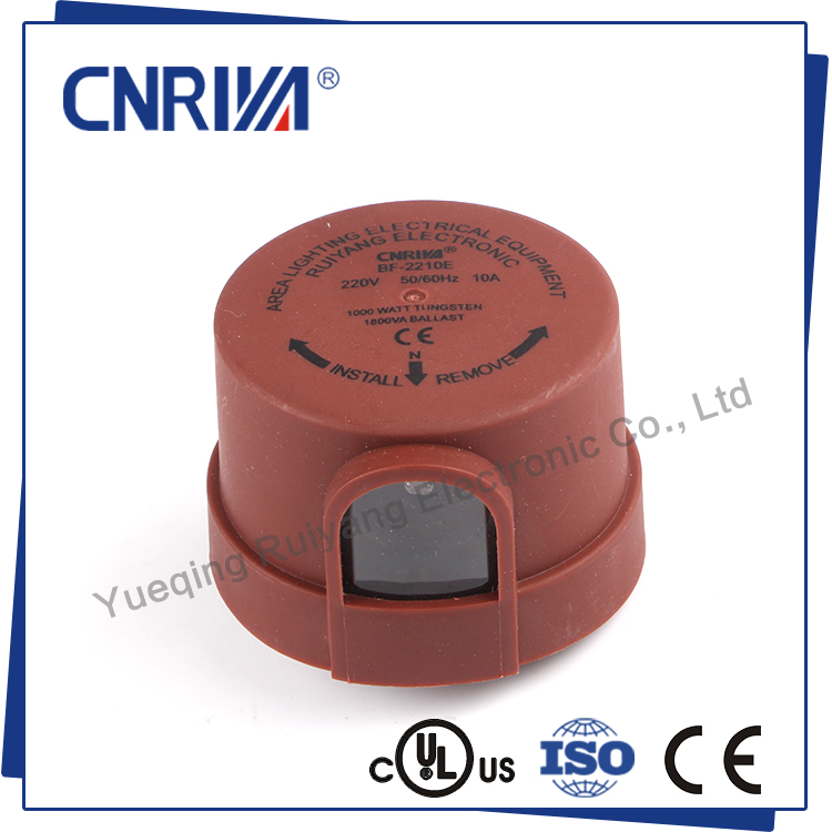 220VAC CE Maroon Housing Light Sensor Switch Photocontrol for Street Light (BF Series)
