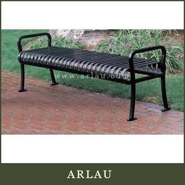 Arlau rustic garden chair,bench chair with back,tubular bench