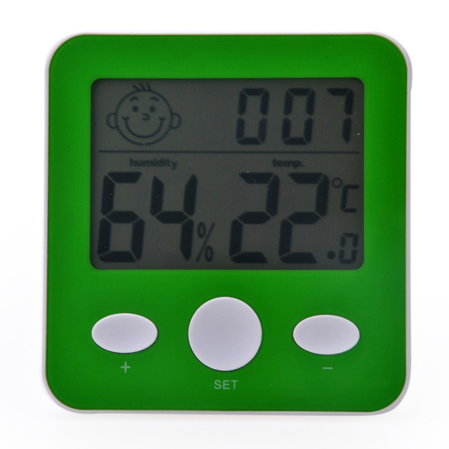 Digital Thermometer & Humidity Meter Hygrometer with Time Display