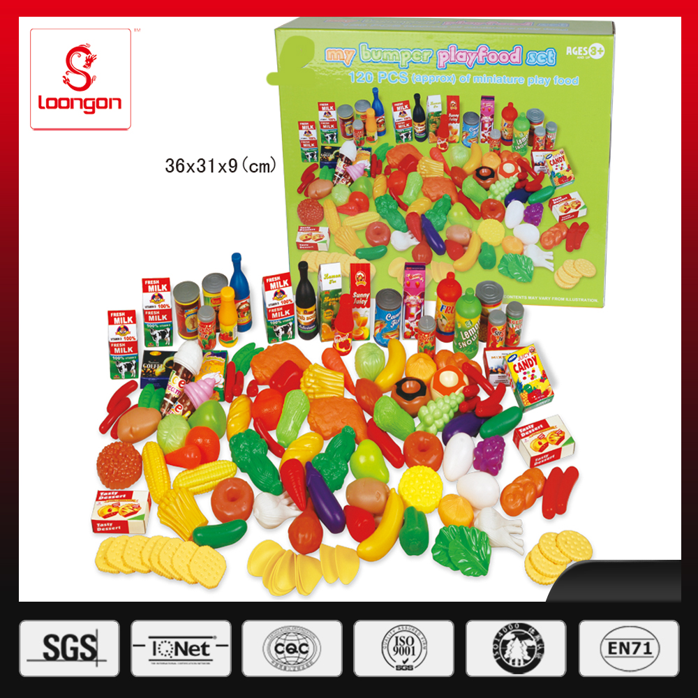 Loongon plastic pretend play food set
