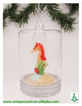 2014 cheapest arts and craft - glass seascape with seahorse inside ornament from direct factory